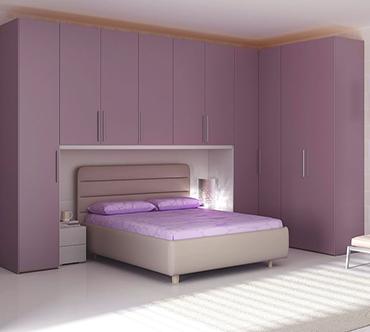 Угловой шкаф в спальню «Аврора»